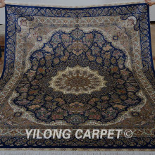 Ship From Us Yilong 8 X10 Qum Persian Silk Rug Large Antique Medallion Kashmiri Handmade Carpet 0937