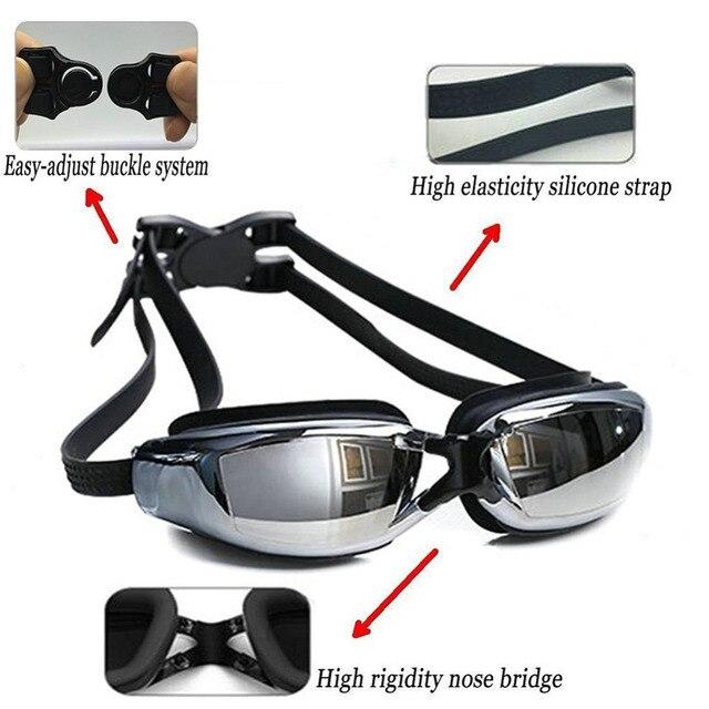 Elite Professional HD Anti-Fog Swim Goggles 1