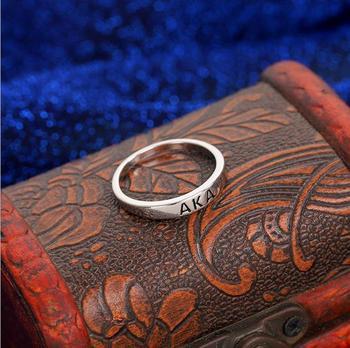 Topvekso Greece Greek Sorority custom greek AKA letter Irregular Round Finger Ring Jewelry Gift 1