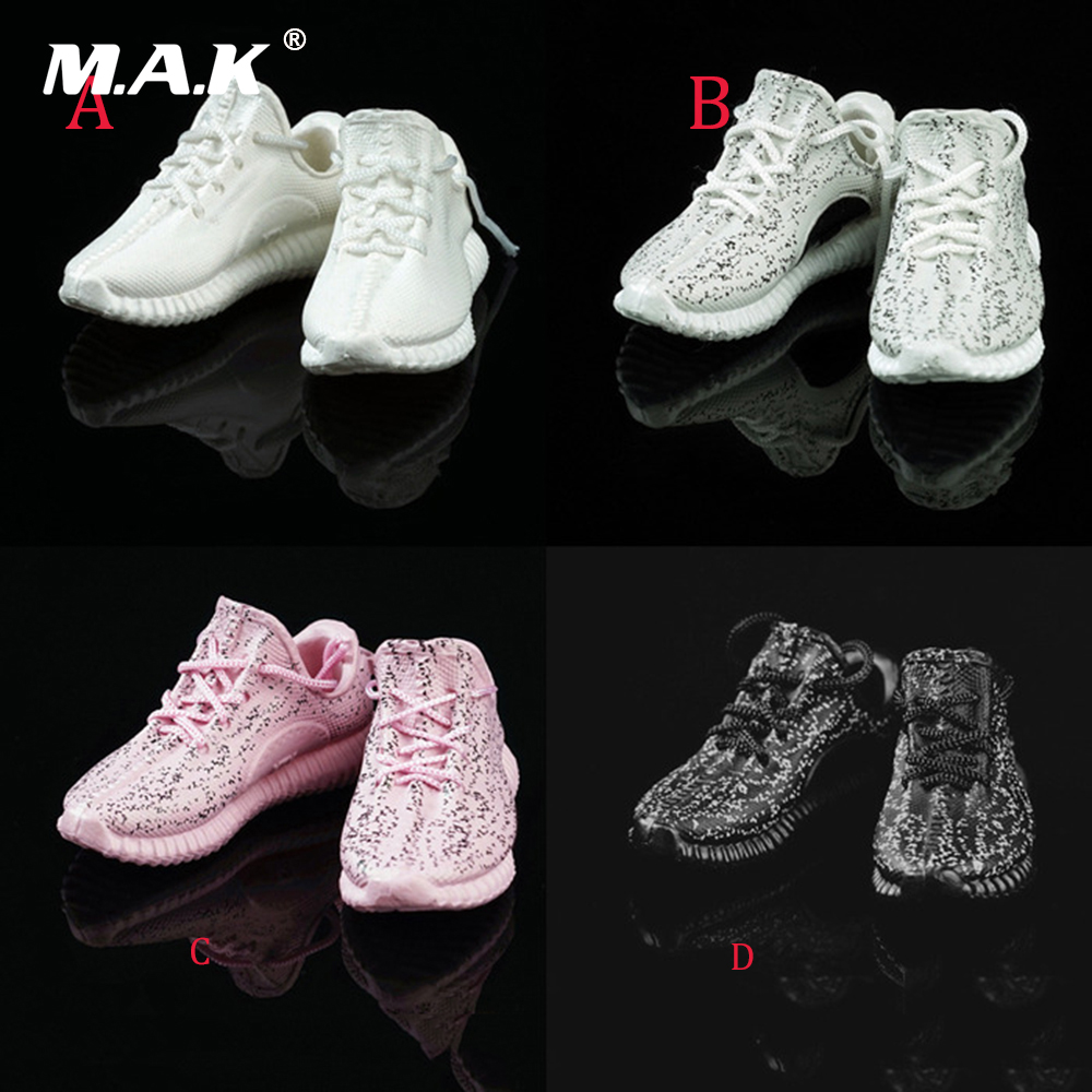 Four Colors 1/6 Scale Womens Fashionable Hollowout Sports Casual Shoes for 12 Inches Female Bodies Figures Dolls