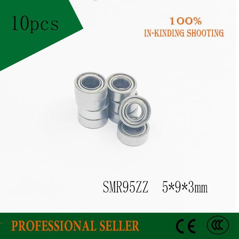 Free Shipping 10 PCS SMR95ZZ SMR95 Bearings 5x9x3 mm Stainless Steel Ball Bearings DDL-950ZZ ABEC1 P