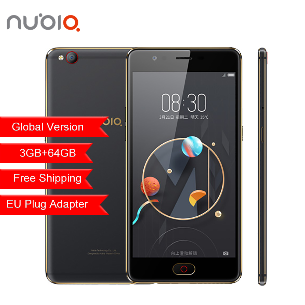 D'origine ZTE Nubia M2 LITE Mobile Téléphone 4g LTE Mondial Firmware MT6750 Octa Core 5.5 3g RAM 64 gb ROM 16.0MP Batterie D'empreintes Digitales