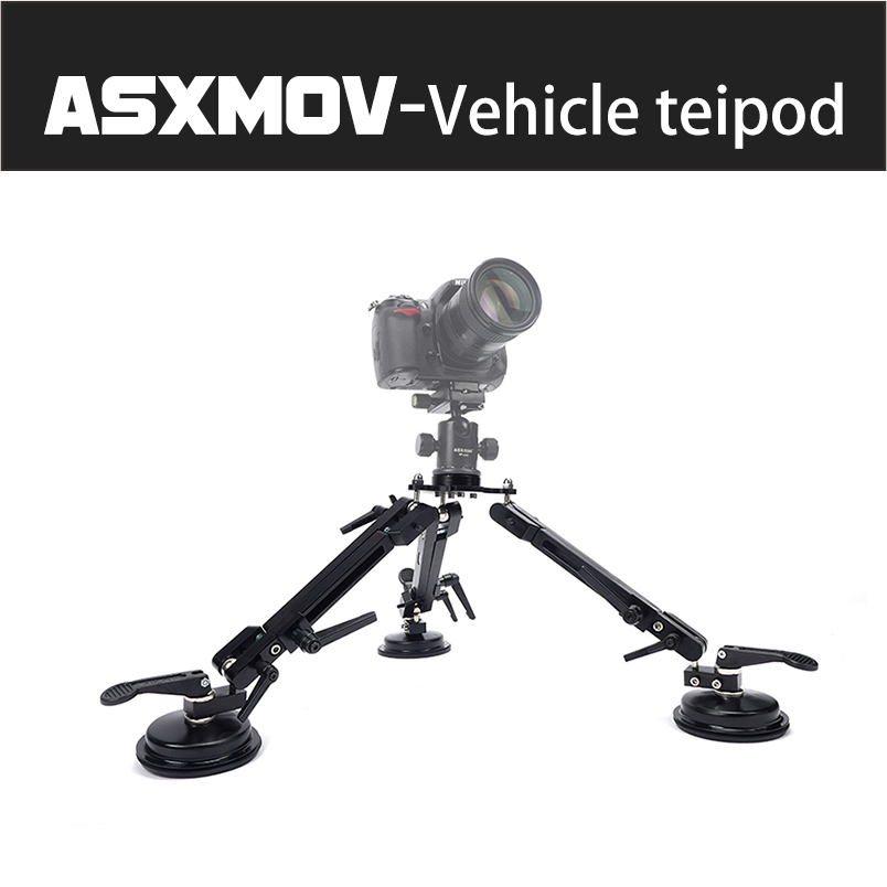 ASXMOV Aluminium Alloy 50cm 50kg Load Car Suction Cup Mount Holder Dslr Camera Tripod For Most Cameras Camera Tripod