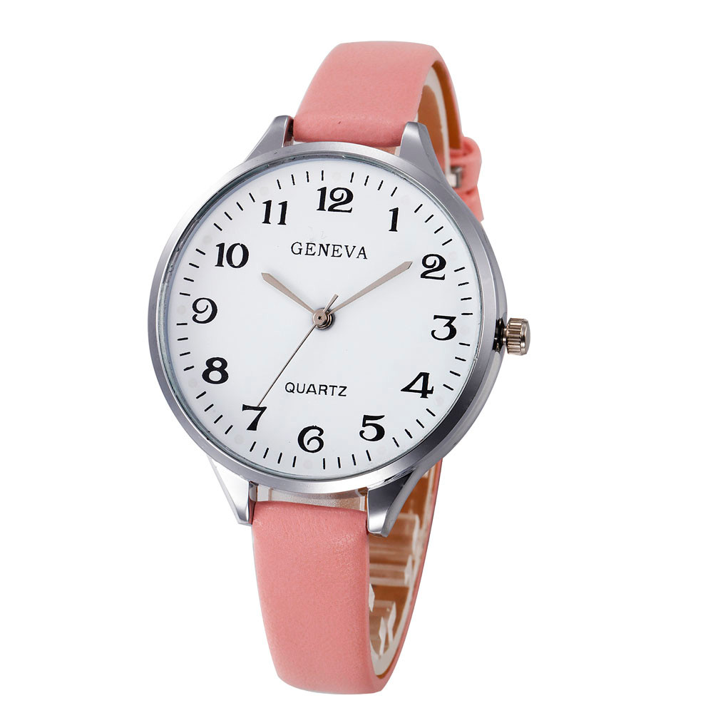 Buy 7 colors women bracelet watch famous brand ladies faux leather analog for Watches brands for lady