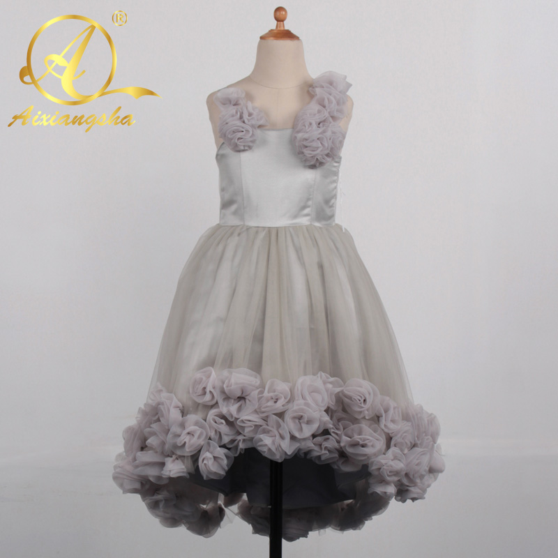 Baby 2018 Purple Tulle Pretty Flower Girl Dress For Wedding First