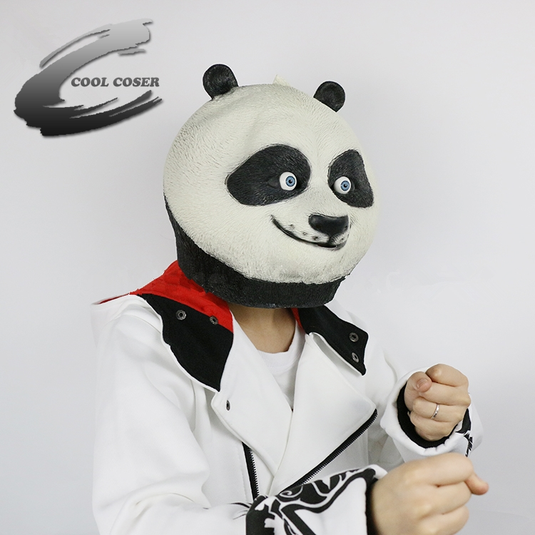 wholesale animal kung fu panda mask for halloween latex mask cosplay costume full face woman man children mask festival party on aliexpresscom alibaba - Kung Fu Panda Halloween