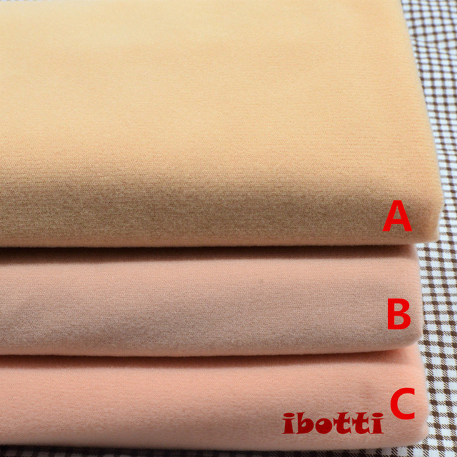 50*148cm Flesh color Diy Doll Skin Textile Fabric Fiber High density Nap Telas Tissus Sewing Patchwork Handmade Costura