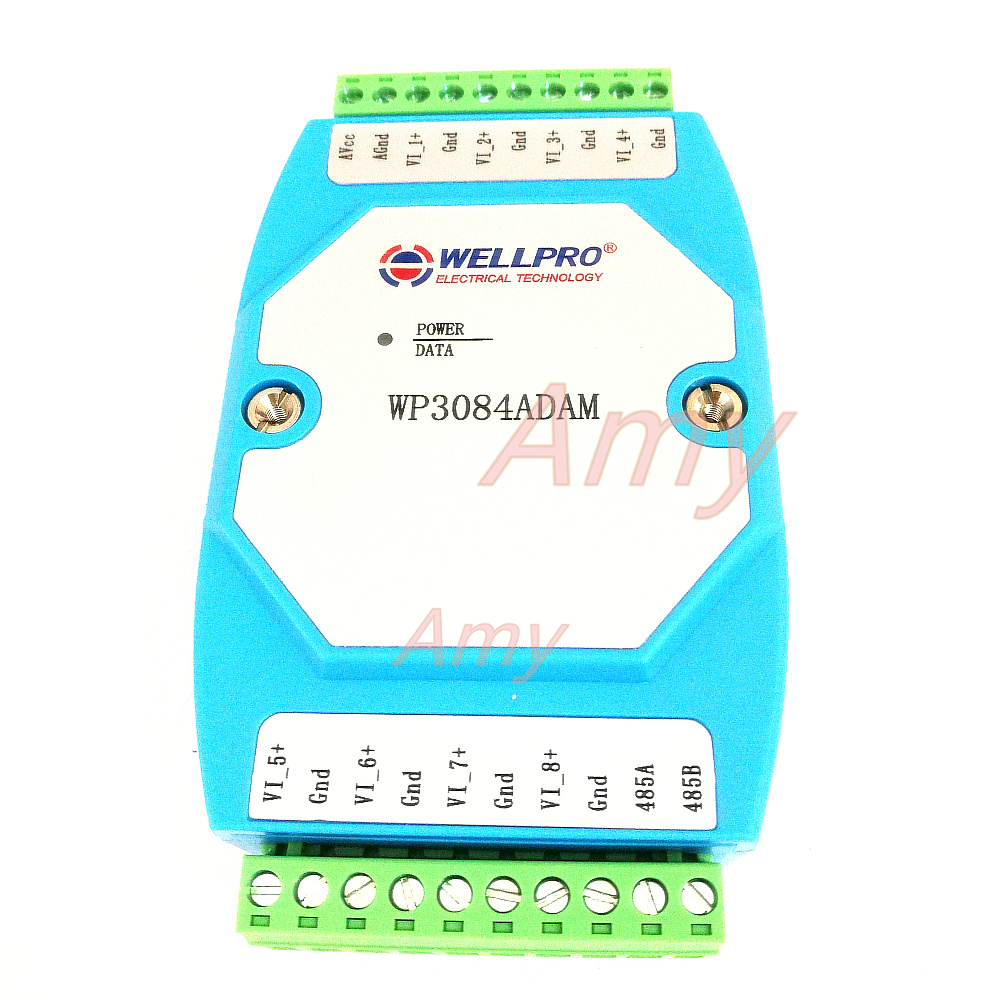 0-10V analog input module voltage acquisition module RS485 MODBUS communication0-10V analog input module voltage acquisition module RS485 MODBUS communication
