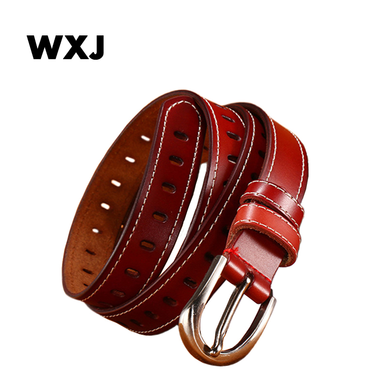 Genuine leather jeans belts for Women Students High Quality luxury strap female belt 5 Color Pin buckle W029(China)