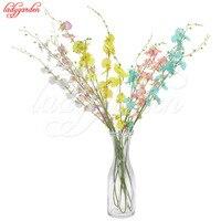 10/20 ADET Yapay Oncidium Kelebek Orkide Ipek Çiçek Dekorasyon Gerçek Dokunmatik Çiçek Yapay Çiçekler Düğün Noel