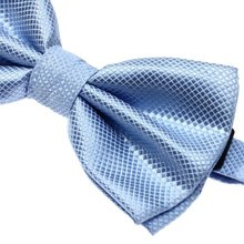 MYTL Mens Plain Polyester Pre Tied Wedding Bow Tie -purple/(pink)/light blue/deep blue/silver/orange