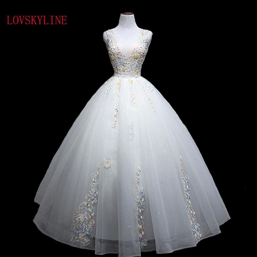 LOVSKYLINE High Quality Real Photos Nice Wedding Dress