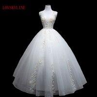 Lovskyline جودة عالية ريال صور جميلة فستان الزفاف النظام العميل 2018