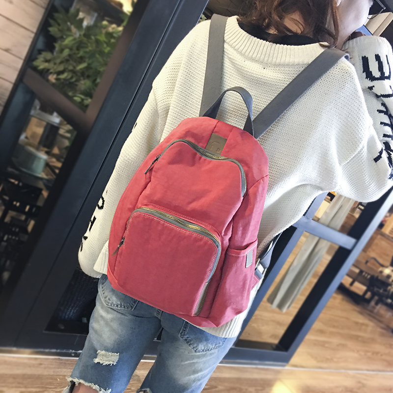 2017 new fashionable design nylon women solid color backpack college student school book bag leisure backpack travel bag pretty style pure color canvas women backpack college student school book bag leisure backpack travel bag