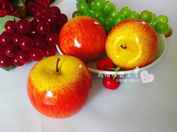 5ks / lot mini simulační model červené jablko ovoce a zeleniny ovoce kompot bubliny dekorace model fotografie vzdělávací hračky # 75