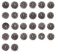 26 шт/лот металлический микс a z Алфавит оснастки кнопки подходят