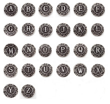 26pcs/lot Metal Mix A-Z Alphabet Snap Buttons fit 18mm Ginger Button  Snap Bracelet&Bangles Letters DIY Snap Jewelry Charms 20pcs 50pcs lot kcd4 31 25mm 4pin 16a 250v snap in dpst on off position snap boat rocker switch copper feet