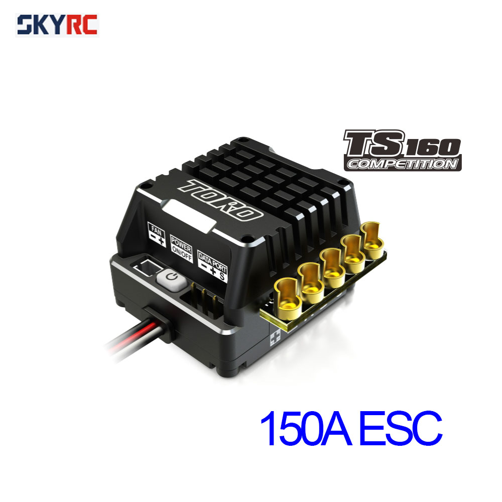 SKYRC toro TS160 150A esc competition electronic speed controller for 1/10 1 10 scale rc car 1/8 1 8 scale rawler parts free shipping skyrc toro ts50 1 10 50a sensored brushless esc for 1 10 rc scale car model buggy touring car