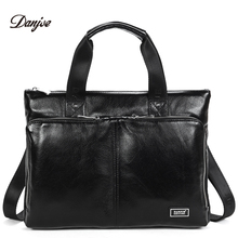 DANJUE New Handbag Male Genuine Leather Men Business Briefcase Men Laptop Bag Zipper Big Capacity Man
