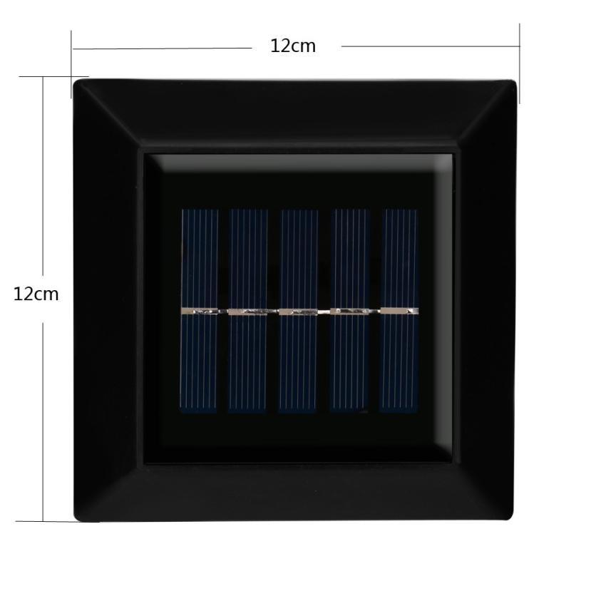 MUQGEW 6 LED Waterproof Solar Light PIR Motion Sensor Wall Lamp Outdoor Garden Security Emergency Street Solar Garden Light
