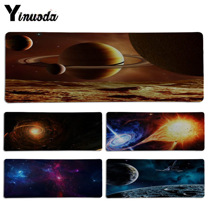 Yinuoda Universe Space Keyboard Gaming MousePads Size for 30x90CM Speed Version Gaming Mousepads