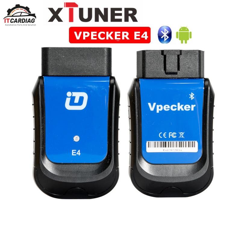 Xtuner VPECKER E4 Bluetooth Полный Системы обсидиан инструмент для Android Поддержка ABS кровотечение/Батарея/DPF/EPB/инжектор/масло сброс/TPMS