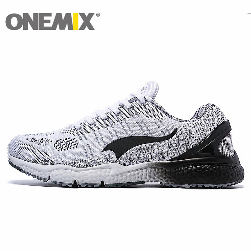 New onemix Breathable Mesh Running Shoes for Men Women 2016 Knit light Lady Trainers Walking Outdoor Sport Comfortable sneakers onemix 2016 men s running shoes breathable weaving walking shoes outdoor candy color lazy womens shoes free shipping 1101