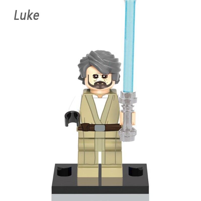 Star Wars Single Sale The elderly Luke Skywalker Stormtrooper Bricks Action Building Blocks Children Gift Toys