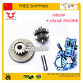 ZONGSHEN CB250 250CC 4 Four Valve Water Cooled Engine START drive starting dual gear quad accessories free shipping