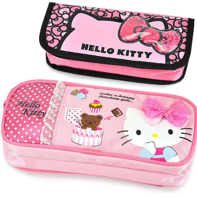 4e27191c7 Lovely Hello Kitty Character School Children Girl Pencil Pen Holder Case  coins purse cosmetic Bag stationery box