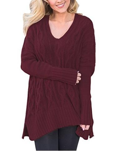 2019 autumn and winter hot sale basic women sweaters computer knitted pullovers ruched loose comfortable v neck female sweaters in Pullovers from Women 39 s Clothing