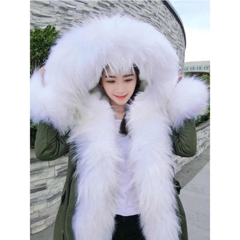 330dc59a5f2 ... wholesale real fur coat long parka winter jacket coat women biggest  raccoon fur collar cuffs parkas ...