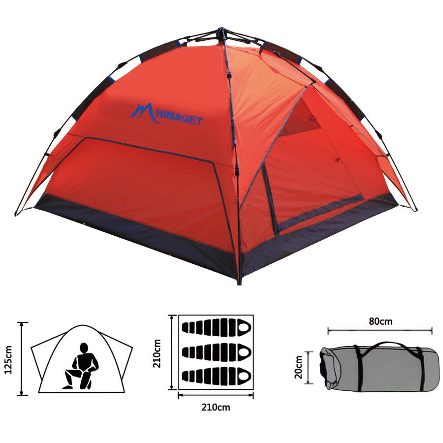 3-4 Person Automatic Tent Double Layer Large Camping Tent  Family Tent For Beach Picnic Party high quality outdoor 2 person camping tent double layer aluminum rod ultralight tent with snow skirt oneroad windsnow 2 plus