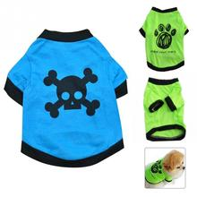 Spring Summer Apparel Costumes Fashionable Cotton+Polyester Puppy Vest T-Shirt Coat Mini Pet Dog Clothes  XS/S/M/L