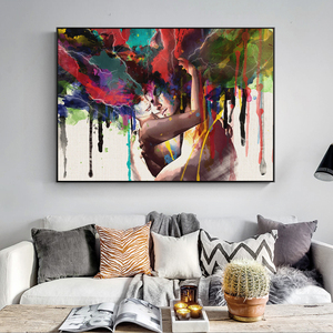 Abstract Canvas Art Wall Paintings Couple Of Lover Modern Wall Posters And Prints Portrait Canvas Prints For Living Room Cuadros