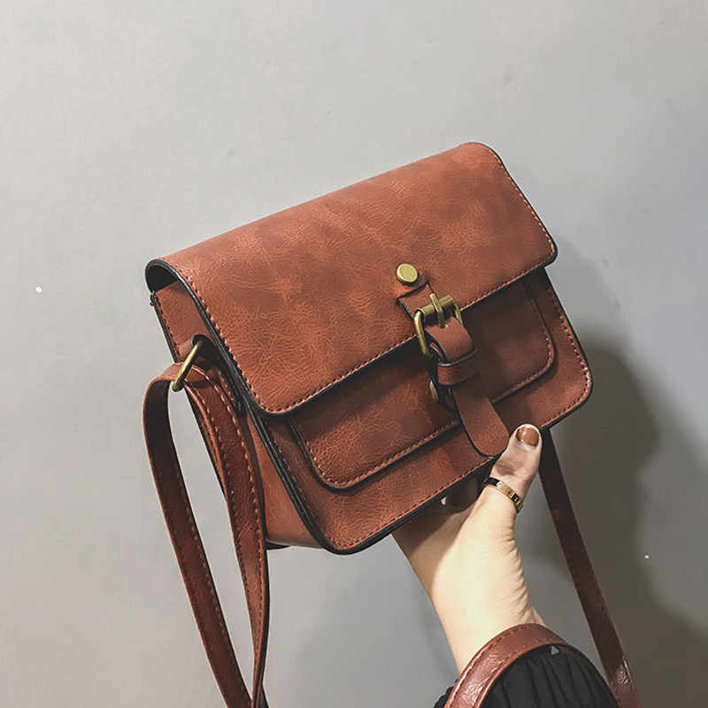 JIAMEN Nieuwe Vintage Vrouwen Flap Mode Casual Lederen Schoudertassen Lady Crossbody Messenger Bag Elegante Envelop Clutch Purse