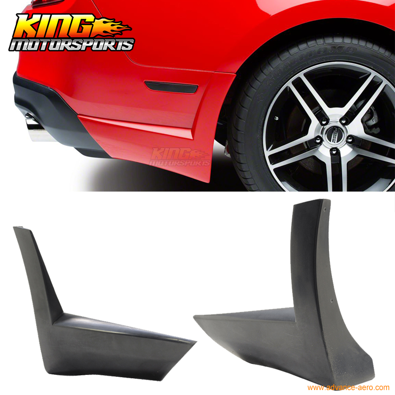For 2010-2012 Ford Mustang V6 Rear Bumper Lip Aprons 2 Piece ford mustang v6 2011