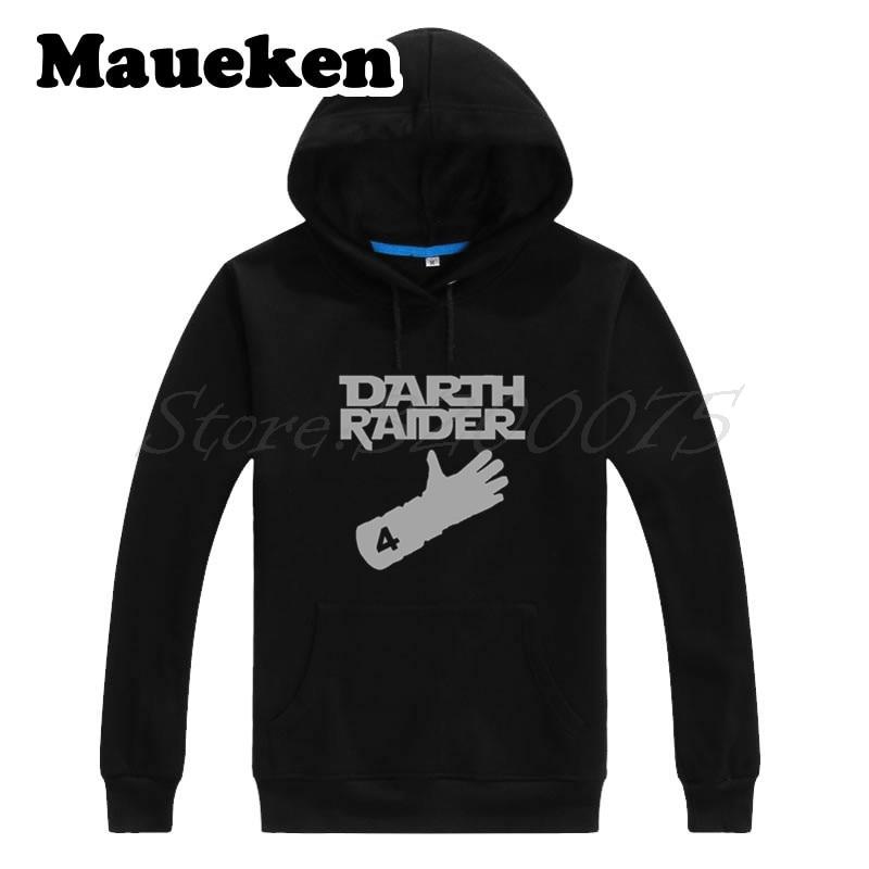 quality design 5a913 719af US $29.88 |Men Hoodies DARTH RAIDER Derek Carr #4 The Glove oakland  Sweatshirts Hooded Thick for fans gift Autumn Winter W17101611-in Hoodies &  ...