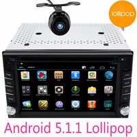 free camera included 2Din Android 5.1.1 Car dvd CD headunit Stereo video GPS Navigation Double 2 Din HD Car dvd wifi autoRadio