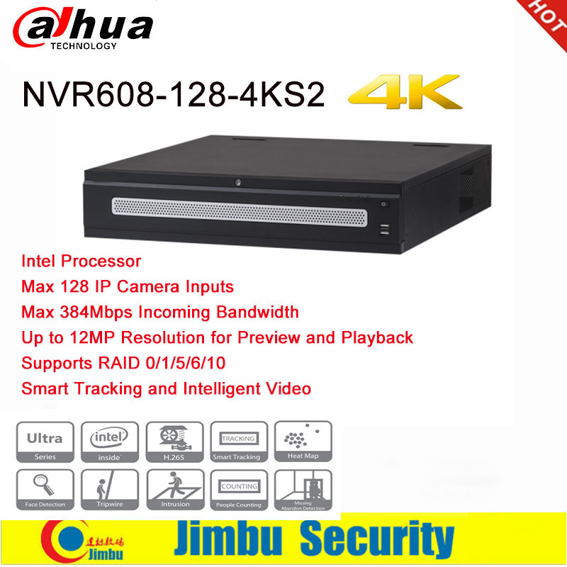 цена на Dahua NVR NVR608-128-4KS2 Max 128 IP Camera Inputs Smart Tracking and smart video 128 Channel 4K H.265 Up To 12 MP