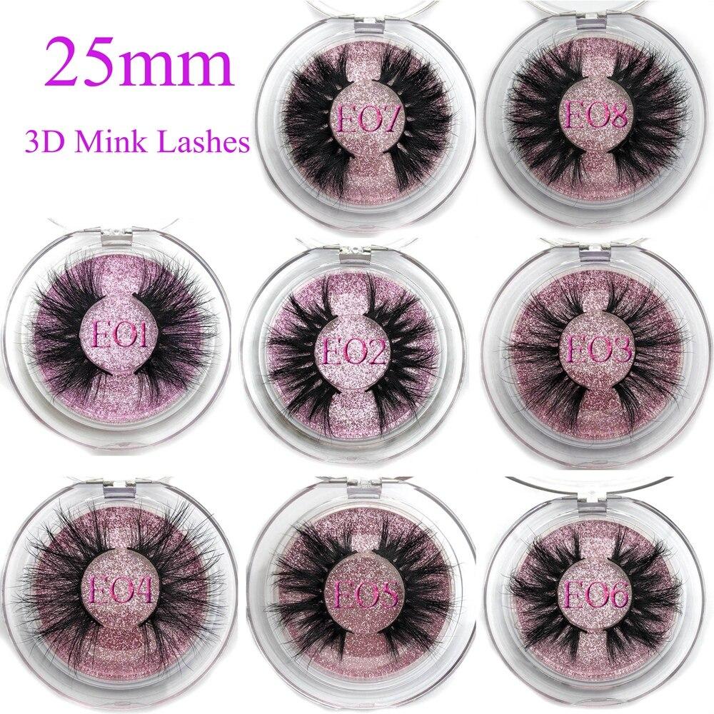 Image 5 - Mikiwi 25mm 3D Mink Lashes E04 100% Cruelty free Thick soft Natural 25mm Mink Lashes False Eyelashes Makeup Dramatic Long Lashes-in False Eyelashes from Beauty & Health