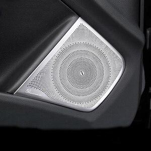 Puerta Interior de coche mate, altavoz estéreo de Audio para puerta de coche, cubierta embellecedora de altavoz para Mercedes Benz clase A CLA GLA W176 C117 X156