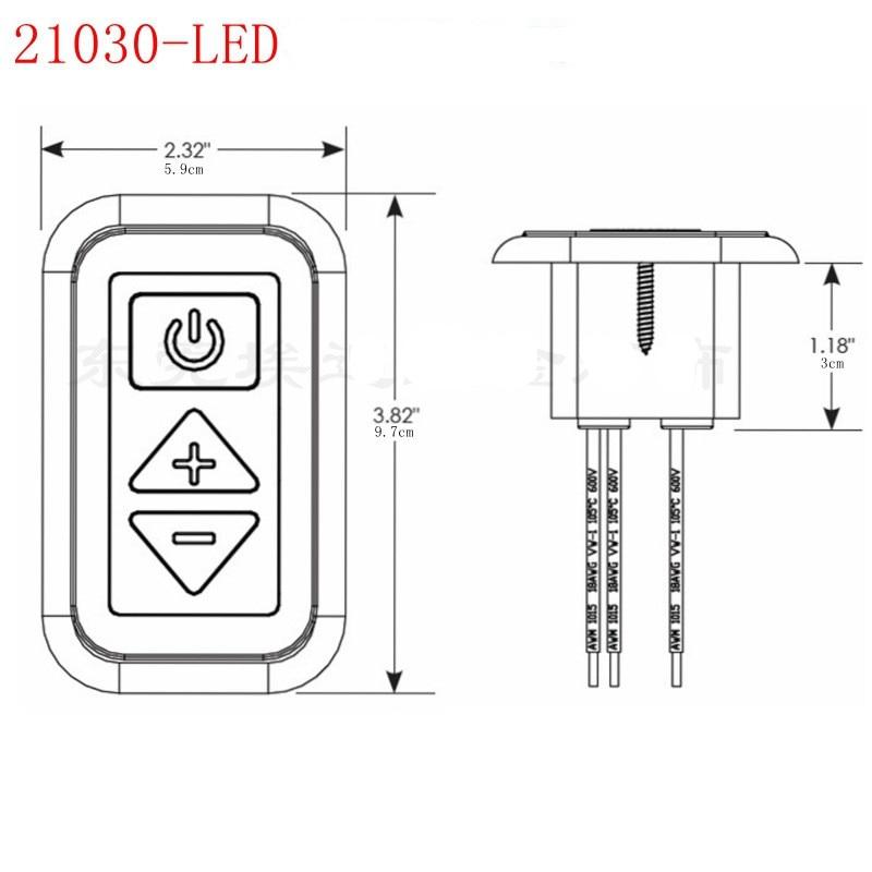 RV Black LED Digital Light Dimmer Switch 10-24v DC  100 Watts of Draw