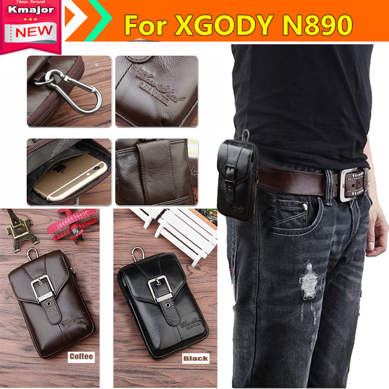 Genuine Leather Carry Belt Clip Pouch Waist Purse Case Cover for <font><b>XGODY</b></font> N8900 Smart <font><b>Phone</b></font> Bag /<font><b>Cell</b></font> <font><b>phone</b></font> Case Free K3225