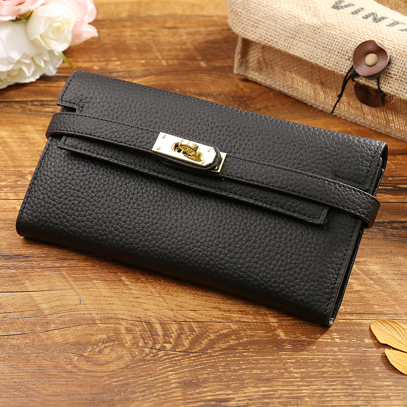 100% Genuine Leather Wallet High Quality Designer Women Wallets Luxury Purses for Lady Clutch Bag Card Holder Dollar Price A0318 brand men wallets dollar price purse genuine leather wallet card holder luxury designer clutch business mini wallet high quality