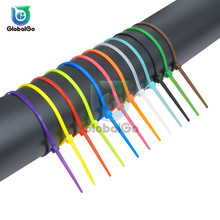 Wire Cable-Ties Reusable 100pcs/Lot Assemblies Loop Self-Locking Zip Plastic Nylon