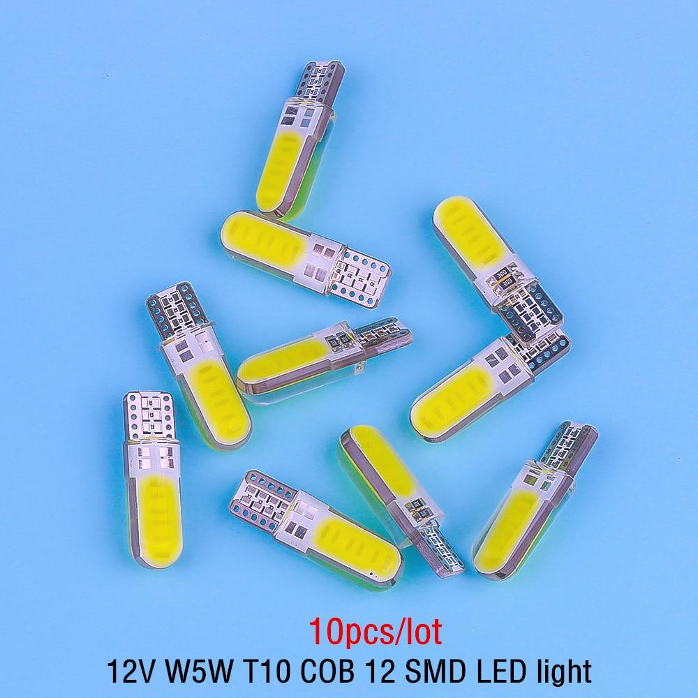 10 pces 4/6/12 smd 6000k t10 led lâmpada interior do carro canbus livre de erros t10 branco 5730 led 12v lateral do carro cunha luz acessórios do carro