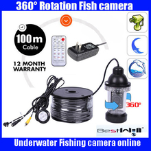 100 M Cable Underwater Inspection View Camera For Fishing System 18 LED LIGHTS 360 Degree Rotating Waterproof Underwater Camera