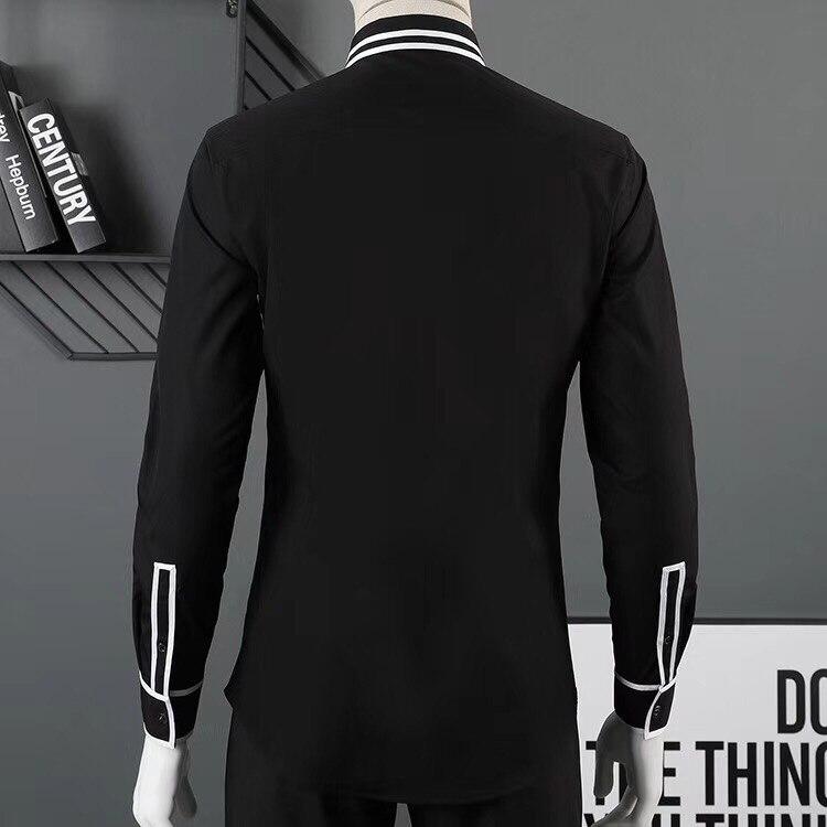 Casual Solide Fit Chemise Longues Mince Bien Nouvelle Manches 2018 Marque Hommes Slim Vente Couleur La Vêtements À De TF3lKJc1