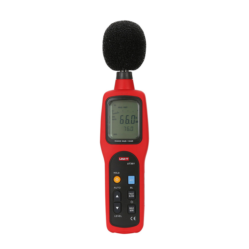 UNI-T UT351 Digital Sound Level Meter Decibel Meter Noise Tester Measuring Instruments 30-130dB with LCD Backlight free shipping uni t c handeld lcd luminometer illuminometer lux meter tester